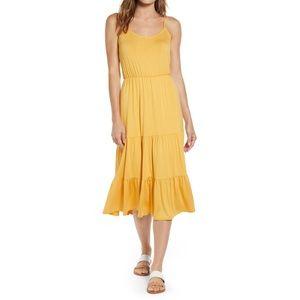 x The Motherchic Sunset Tiered Knit Maxi Dress XL